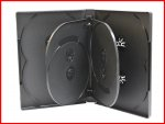 22MM 8-IN-1 DVD CASE BLACK EIGHT TRAY OVERLAP PREMIUM HOLDER BOX MEGADISC BRAND [DVDC-1060P]