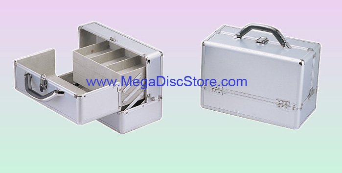 Silver Makeup Train Case Free Shipping - Click Image to Close