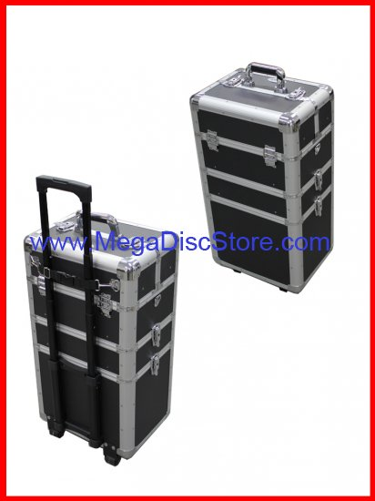 Professional Rolling Makeup Case Black - Click Image to Close