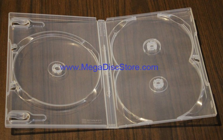 Scanavo Crystal Clear Standard Size 3 DVD Case Box 14mm Triple Discs Holder W/O Flap Tray - Click Image to Close