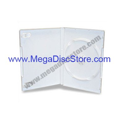14mm DVD Case Single White 100pcs/pack - Click Image to Close