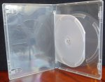 Viva Elite 14mm DVD Case Super Clear Double 2 Discs Tray Eco-Box Solid