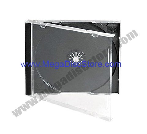 10.4mm Jewel Case Single Black 50Pcs/Pack - Click Image to Close