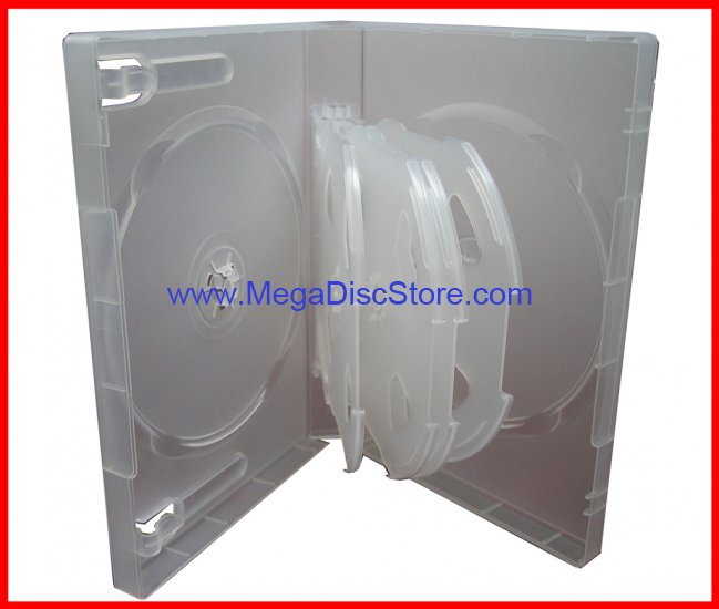 27mm MULTI DVD CASE Frosty Clear (hold 10 Discs) 20 Pk - Click Image to Close