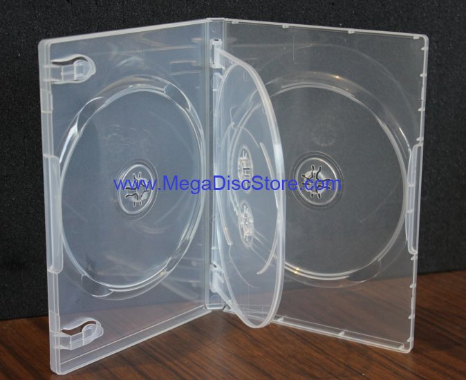 Quad Crystal Clear Standard Size 4 DVD Case Box 14mm Four Discs Holder W Flap - Click Image to Close