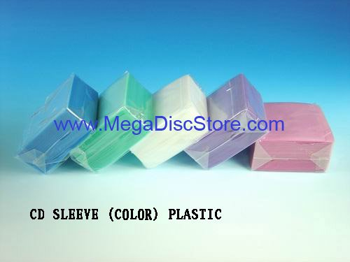 Plastic CD/DVD Sleeve Double Side Mix Colorful 400 Sleeves - Click Image to Close