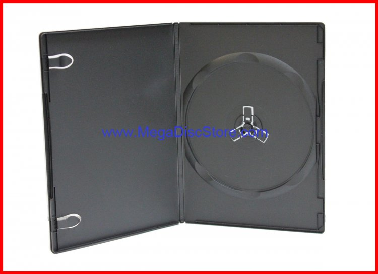 New 7mm DVD Case Single Black 1 Disc Premium Quality MegaDisc Brand Free Shipping - Click Image to Close