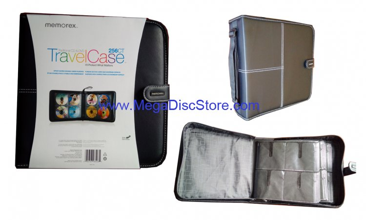 Memorex TravelCase Active 256 CD & DVD Wallet - Scratch & Bump Resistant Free Shipping - Click Image to Close